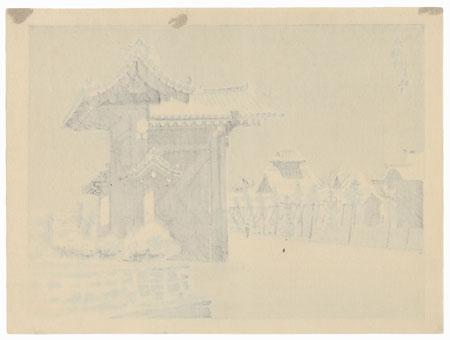 Winter at Hongan Temple, 1942 by Tokuriki Tomikichiro (1902 - 1999)