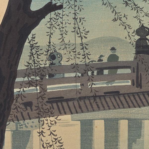The Great Sanjo Bridge in Summer, 1942 by Tokuriki Tomikichiro (1902 - 1999)