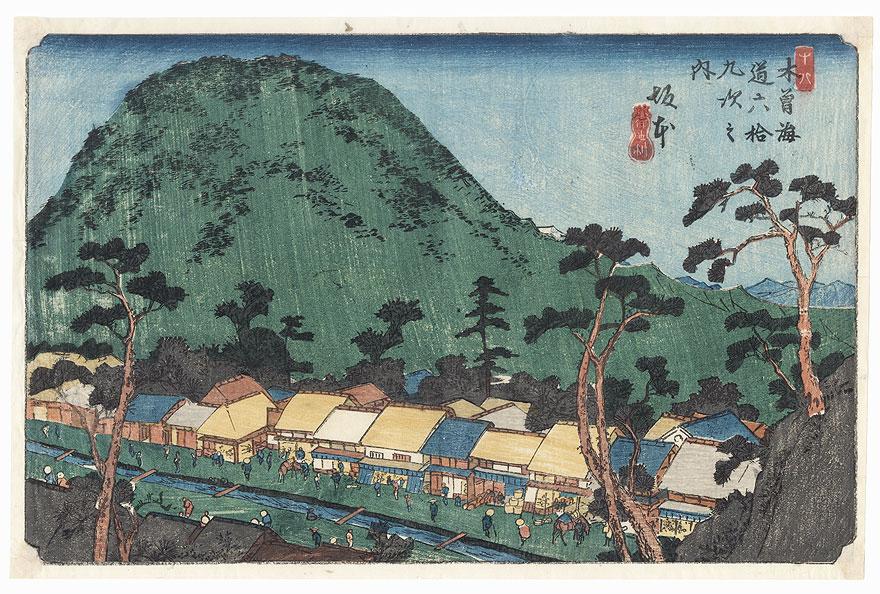 Sakamoto, circa 1835 - 1838 by Eisen (1790 - 1848)