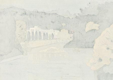 Matsuyama Castle in Early Autumn, 1991 by Fumio Kitaoka (1918 - 2007)