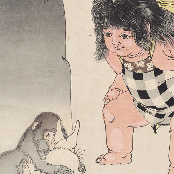 Moon of Kintoki's Mountain by Yoshitoshi (1839 - 1892)