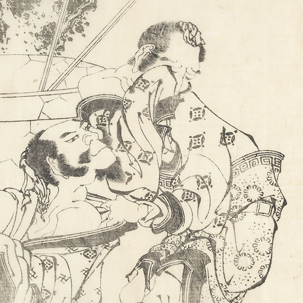 Laughing at a Weeping Man, 1836 by Hokusai (1760 - 1849)