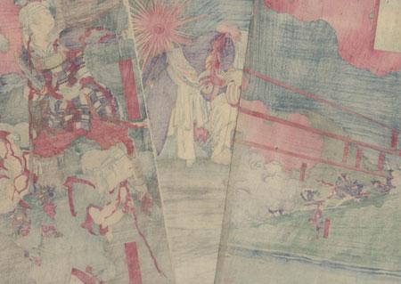 The Battle of Shiroyama, 1877 by Sadanobu II (1848 - 1940)