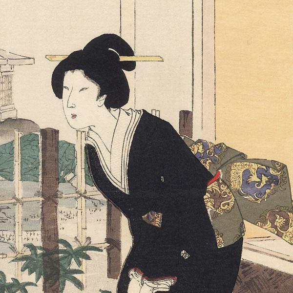 Tea Ceremony by Chikanobu (1838 - 1912)