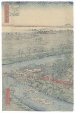 Yanagishima, 1857 by Hiroshige (1797 - 1858)