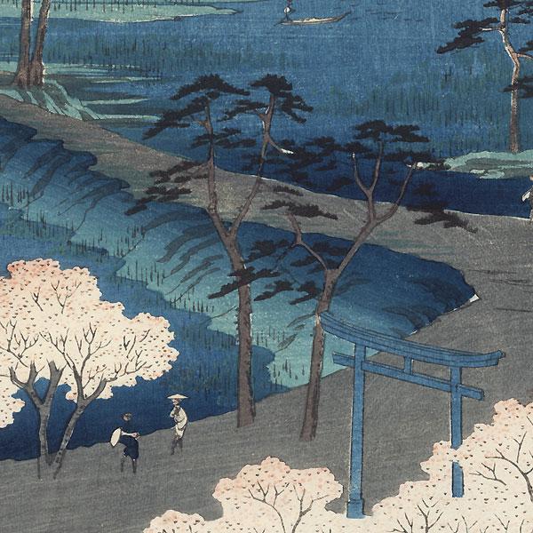 Moto-Hachiman Shrine, Sunamura, 1856 by Hiroshige (1797 - 1858)