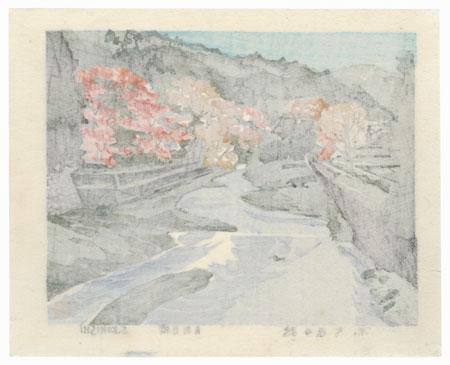 Kyoto, Autumn in Ohara by Seiichiro Konishi (1919 - ?)
