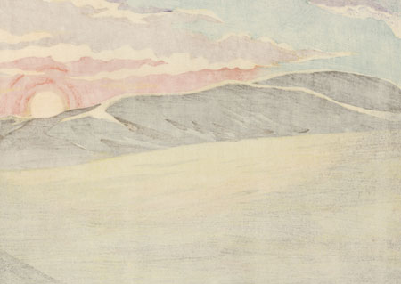 Sunrise at Tottori Sand Dunes, 1971 by Seiichiro Konishi (1919 - ?)