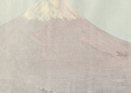 Red Fuji, 1973 by Seiichiro Konishi (1919 - ?)