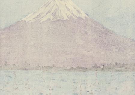 Mt. Fuji in Spring at Lake Kawaguchi, 1972 by Seiichiro Konishi (1919 - ?)