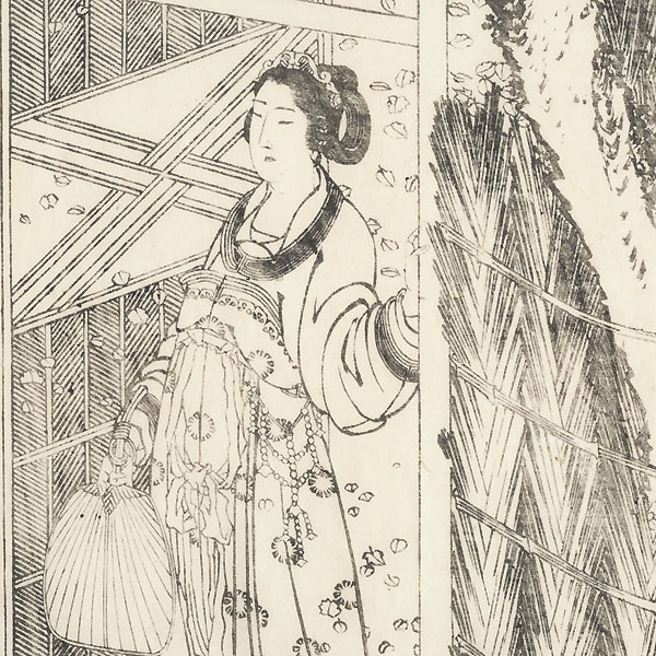 Beauty at a Garden Gate, 1836 by Hokusai (1760 - 1849)