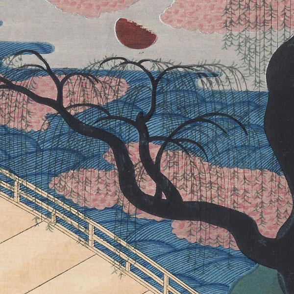 Willows and Bridge by After Ogata Korin (1658 - 1716)