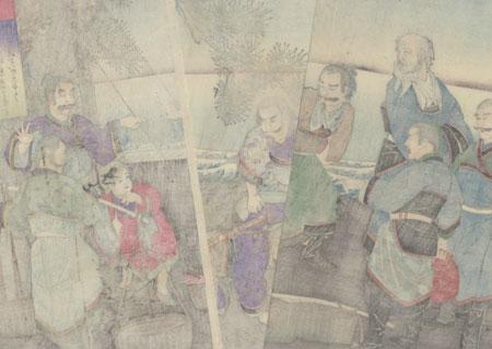 The Humiliation of Kanshin, 1885 by Meiji era artist (unsigned)