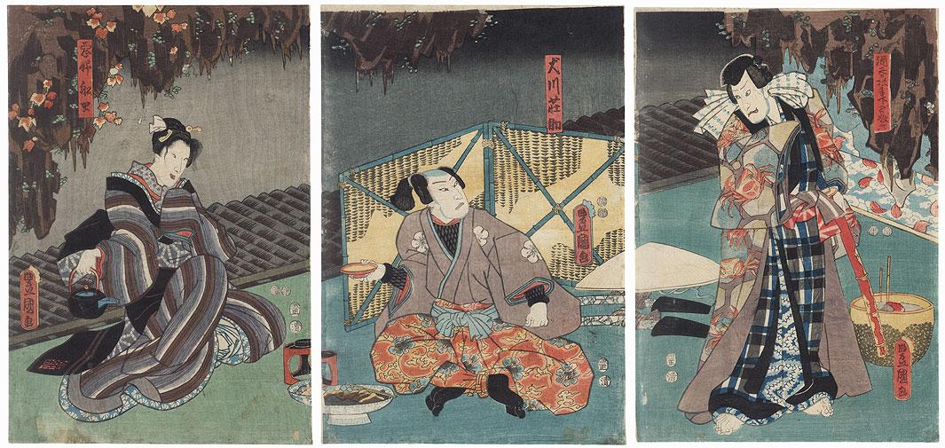 Scene from Satomi Hakkenden, 1853 by Toyokuni III/Kunisada (1786 - 1864)