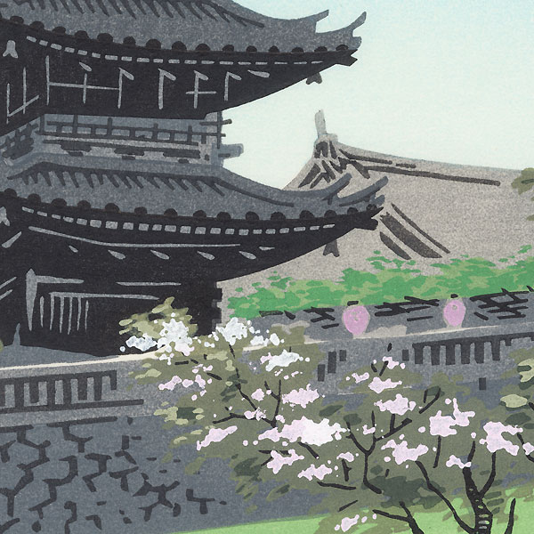 Kiyomizu Pagoda by Tokuriki (1902 - 1999)