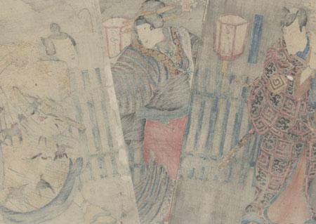 Scene from Mukashigatari inazuma zoshi, 1848 by Kuniyoshi (1797 - 1861)