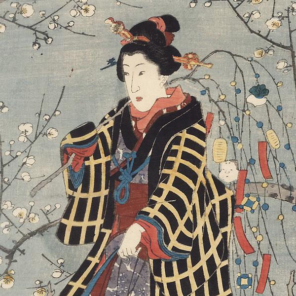 Plum Estate, Kameido, 1852 by Hiroshige II (1826 - 1869)
