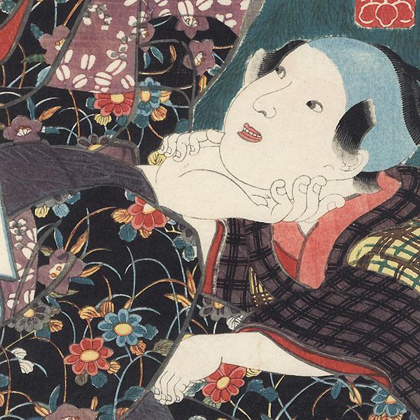 Bando Shuka I as Otoki, 1852 by Kuniyoshi (1797 - 1861)