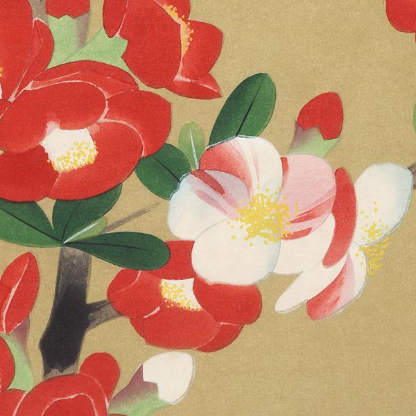Camellia by Yamaguchi Hoshun (1893 - 1971)
