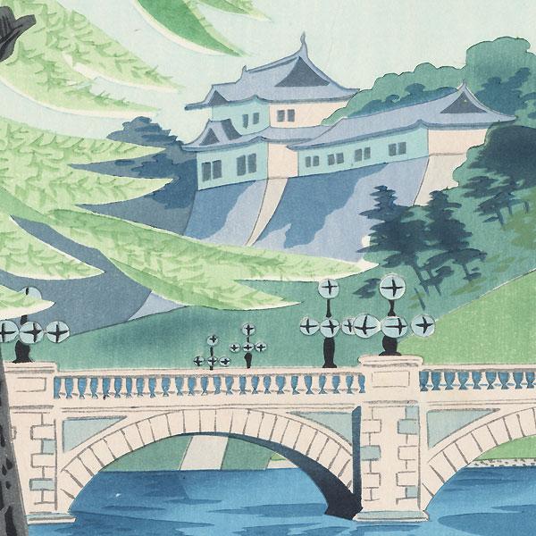 Niju Bridge by Tokuriki (1902 - 1999)