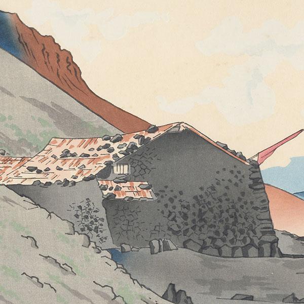 View of Mt. Houei by Tokuriki (1902 - 1999)