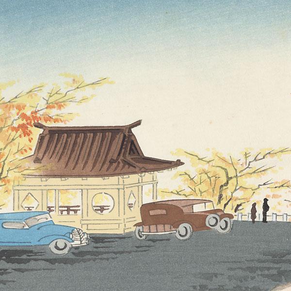 Fuji from Nagao Pass by Tokuriki (1902 - 1999)