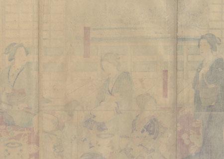 Ryogoku: Playing Music, 1877 by Ginko (active 1874 - 1897)
