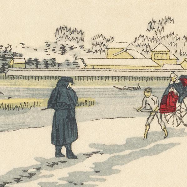 View of Eitai Bridge from Mitsumata by Yasuji Inoue (1864 - 1889)