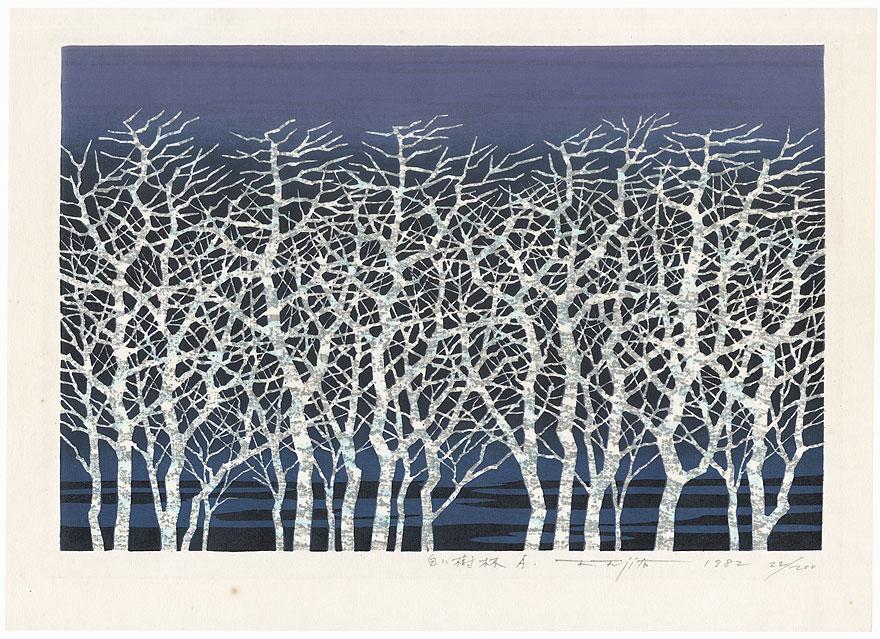 White Forest A, 1982 by Fumio Fujita (born 1933)