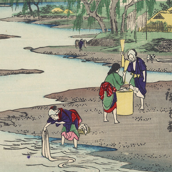 Chofu Jewel River in Musashi Province by Hiroshige (1797 - 1858)
