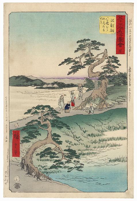 The Ancient Site of the Iris Field at Yatsuhashi Village near Chiryu by Hiroshige (1797 - 1858)