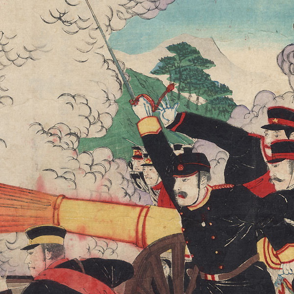 Japan's Great Victory in the Conquest of Pyongyang, 1894 by Nobukazu (1874 - 1944)