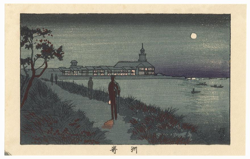 Susaki at Night by Yasuji Inoue (1864 - 1889)