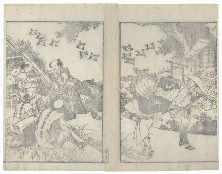 Woodsmen Taking a Break by Hokusai (1760 - 1849)