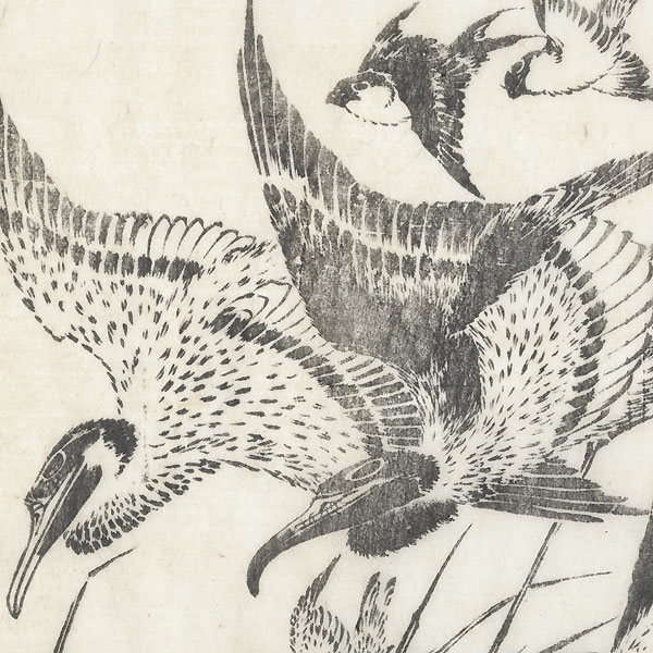 Descending Geese by Hokusai (1760 - 1849)
