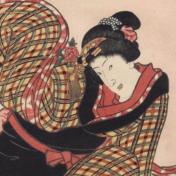 Shirokiya Okoma, 1858 by Toyokuni III/Kunisada (1786 - 1864)
