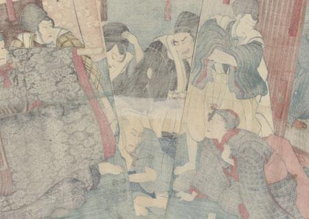 Scene from Konoshita Soga megumi no masagoji, 1851 by Kuniyoshi (1797 - 1861)