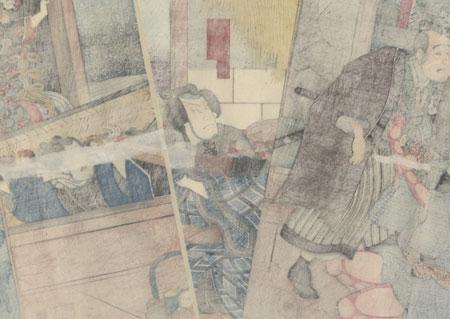 Scene from Sekai no Hana Oguri Gaiden, 1851 by Kuniyoshi (1797 - 1861)