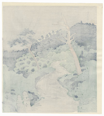 Rain by Tokuriki (1902 - 1999)