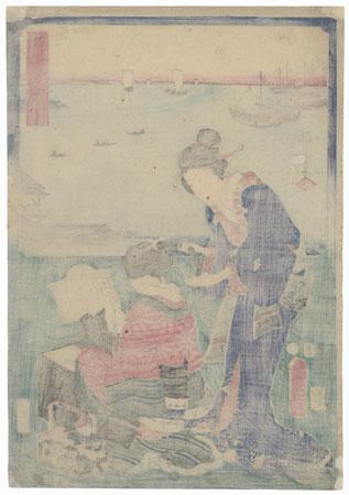 Shinagawa: Dressing Room by Hiroshige (1797 - 1858) and Toyokuni III/Kunisada (1786 - 1864)