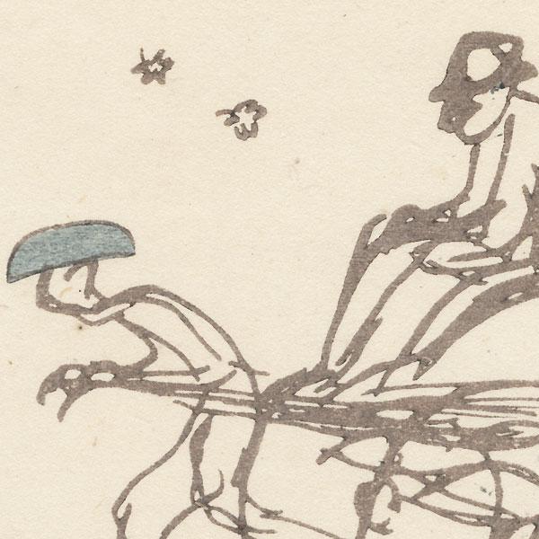Rickshaw, 1917 by Kawabata Ryushi (1885 - 1966)