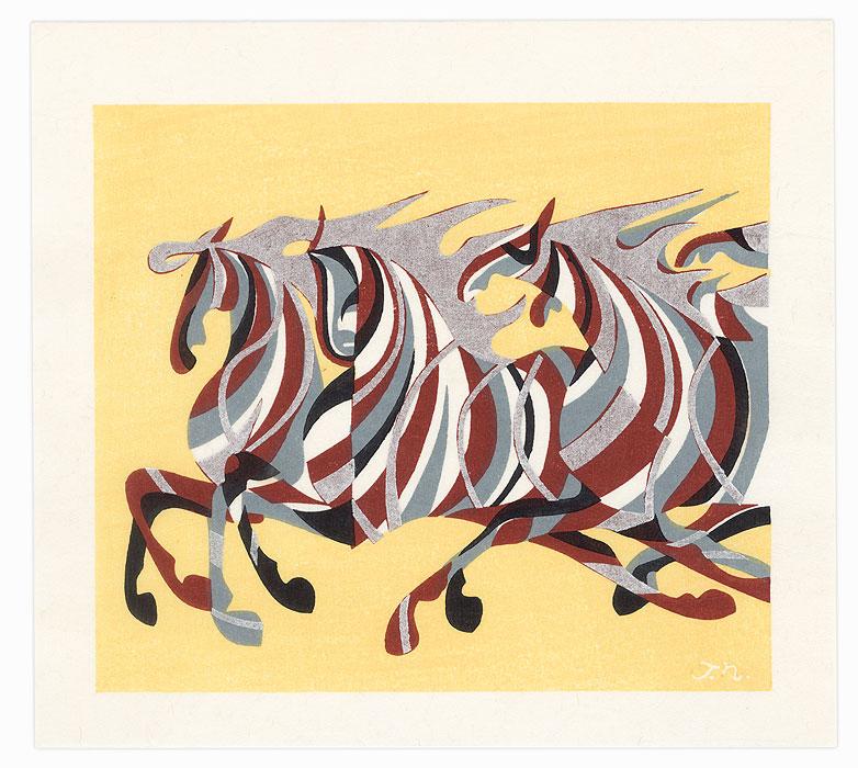 Galloping Horses, 1978 by Tadashi Nakayama (1927 - 2014)