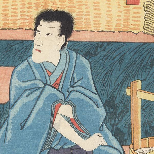 Ichikawa Danjuro VIII as Seigen, 1852 by Toyokuni III/Kunisada (1786 - 1864)