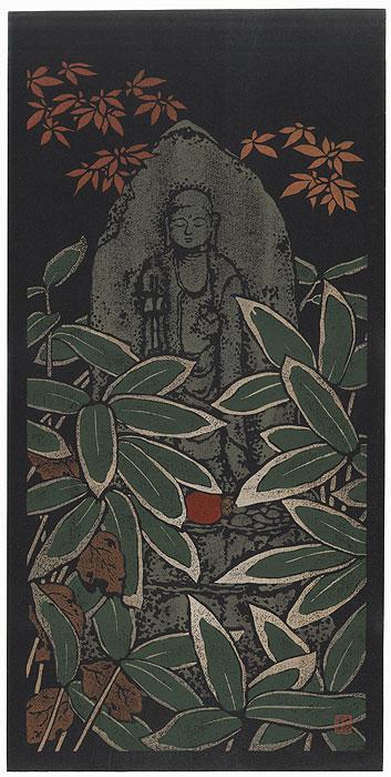 Jizo in Bamboo by Yokota Shichiro (1906 - 2000)