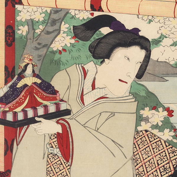 Play in the Fourth Month at the Kabukiza, 1899 by Kunisada III (1848 - 1920)