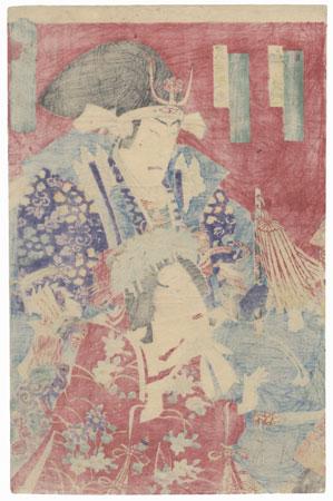Mashiba Hisayoshi and Hatsugiku, 1883 by Kunichika (1835 - 1900)