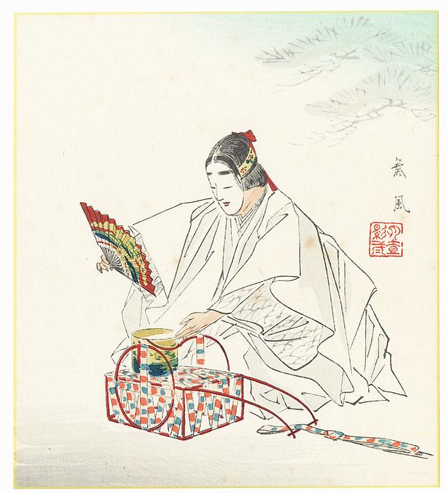 August: Matsukaze by Sofu Matsuno (1899 - 1963)