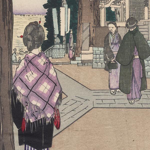 Oji Inari Shrine by Kiyochika (1847 - 1915)