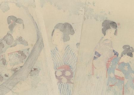 Beauties in an Iris Garden, 1904 by Miyagawa Shuntei (1873 - 1914)