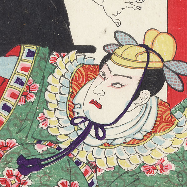 Attacking a Nobleman by Meiji era artist (unsigned)